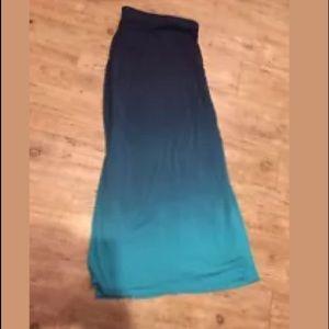 Lane Bryant Ombré Maxi Skirt